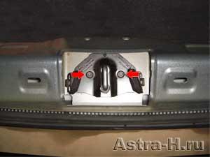 Как открыть багажник на опель астра